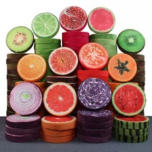 Fruit Shape Pillow Cushion Funny Watermelon Orange Toy Doll Sofa Home Decoration Gift Birthday wedding Home Pillow Seat Cushion