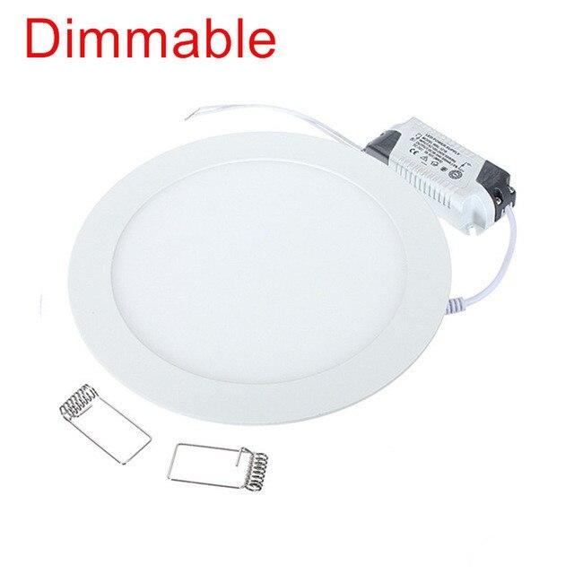 LED Downlight 4W 6W 9W 12W 15W 25W Round Ultrathin SMD 2835 Power Driver Ceiling Panel