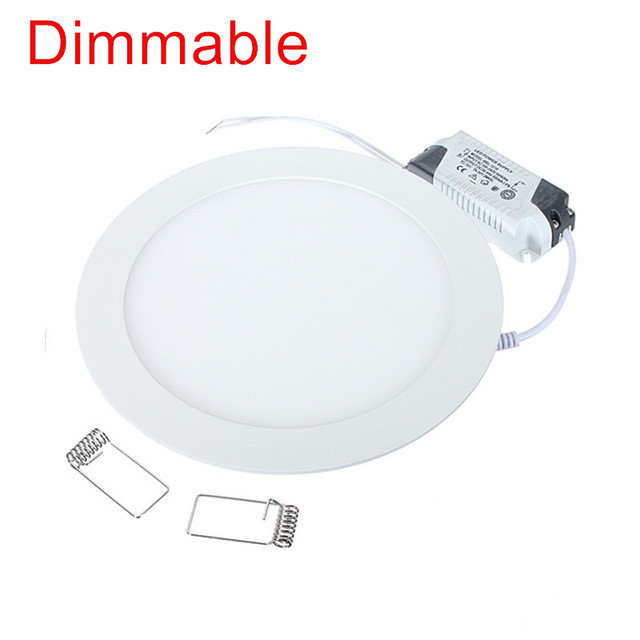 <font><b>LED</b></font> <font><b>Downlight</b></font> <font><b>4W</b></font> 6W 9W 12W 15W 25W Round Ultrathin SMD 2835 Power Driver Ceiling Panel Lights Cool/Natural/Warm White Dimmable image