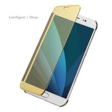 Luxury Flip Case For Samsung Galaxy J7 2017 J730 Smart Clear View Mirror Leather Cover For Galaxy J5 2017 J530 Case J3 2017 J330 стоимость