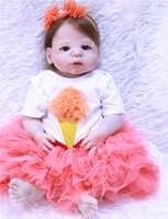 """Reborn bébés fille princesse poupées 22 """"silicone complet reborn poupées pour enfant noël cadeau anniversaire cadeau bebe vivant reborn bonecas"""