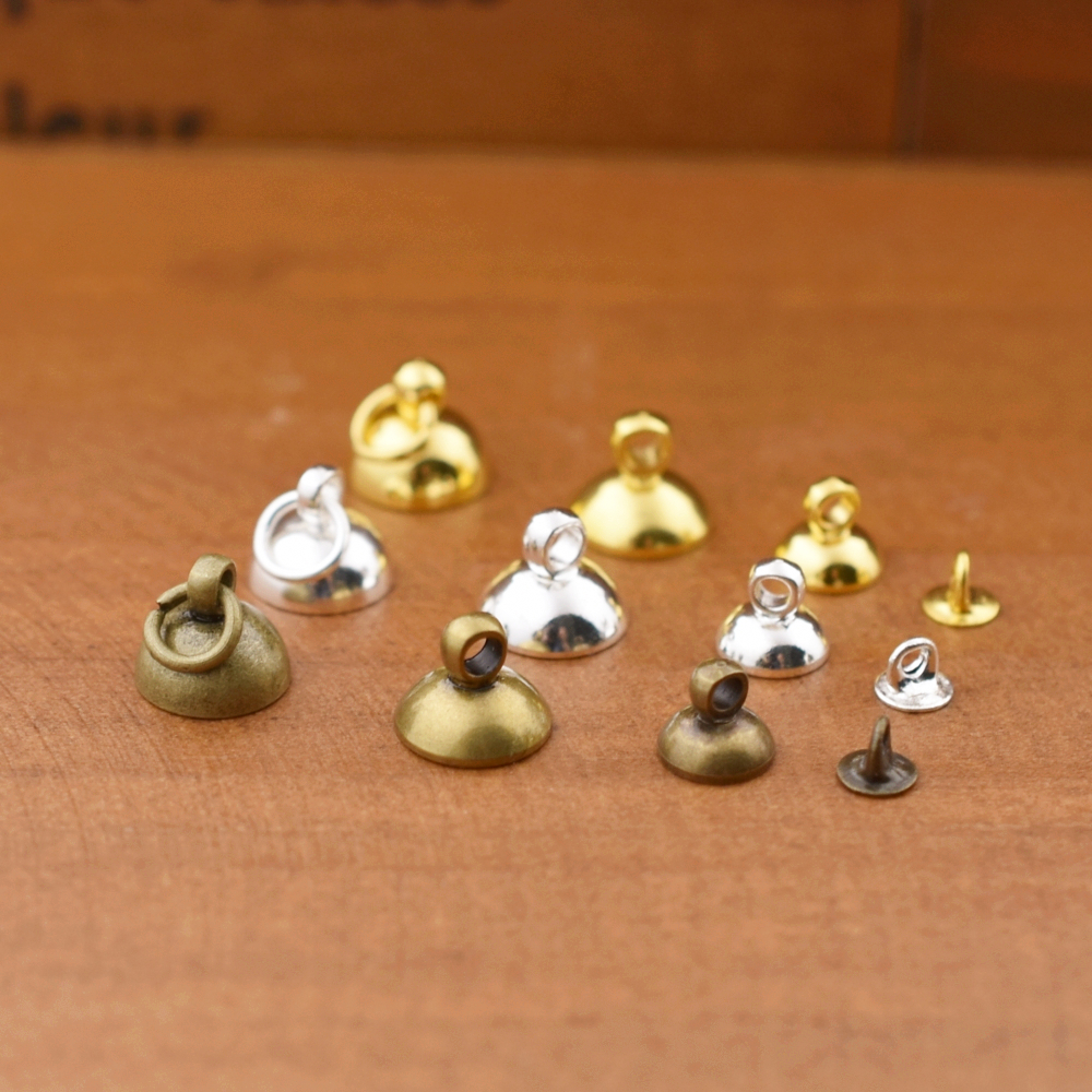 20pieces 4mm 6mm 8mm beads cap pendant connector jewelry accessories jewelry findings diy handmade