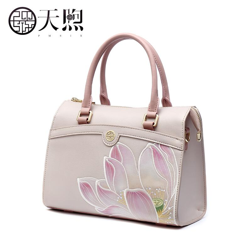Pmsix2018 High-quality luxury fashion new high-grade leather ethnic embroidery handbags embroidered bag large shoulder bag pmsix2018 high quality luxury fashion new high grade leather ethnic embroidery handbags embroidered bag large shoulder bag