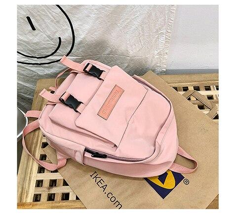 HTB12c9VXrr1gK0jSZR0q6zP8XXad 2019 Backpack Women Backpack Fashion Women Shoulder Bag solid color School Bag For Teenage Girl Children Backpacks Travel Bag