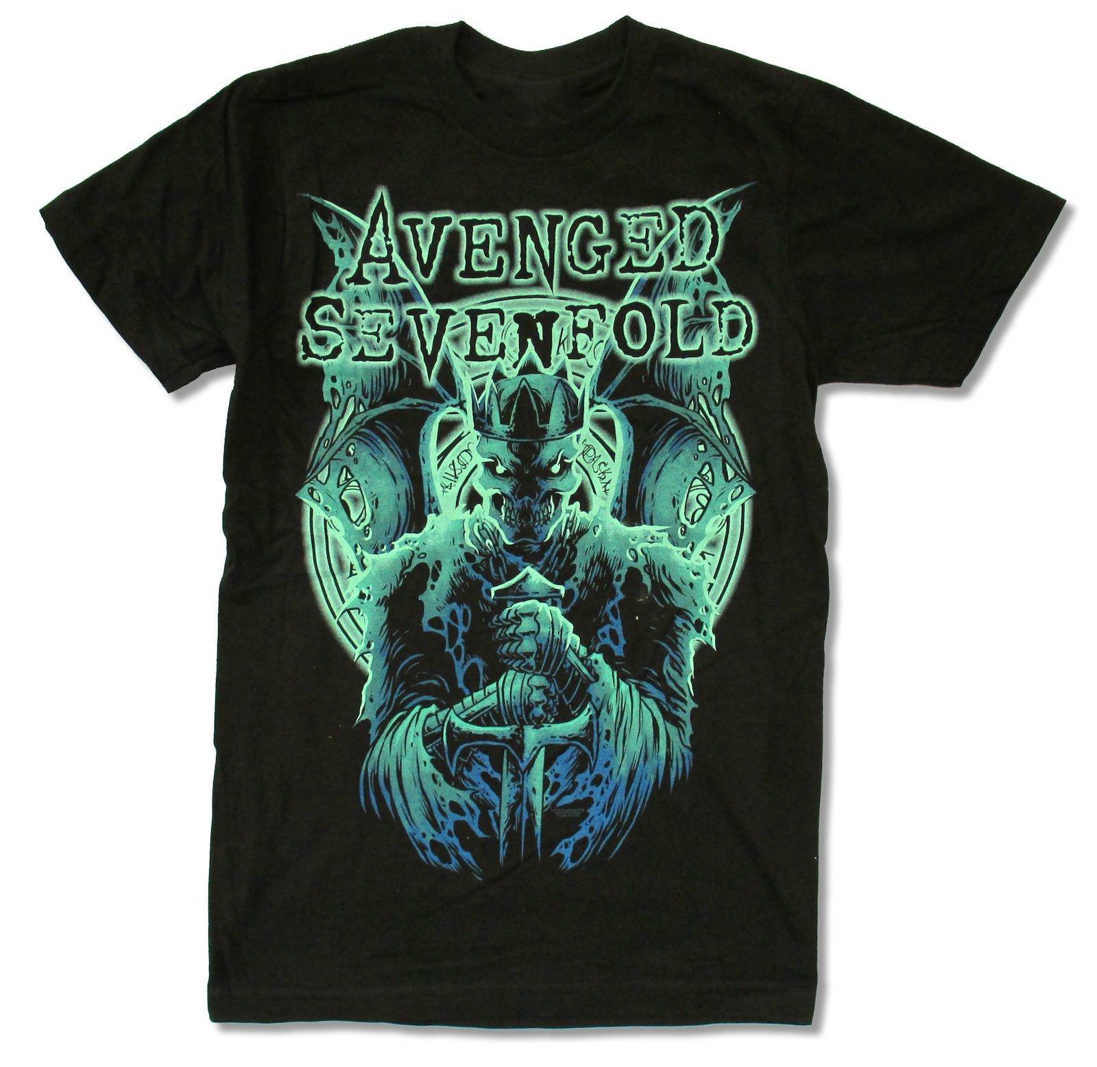 Plain black t shirt quality - Avenged Sevenfold Knight Black Slim Fit T Shirt New Official Adult A7x Plain Black T Shirt Mens