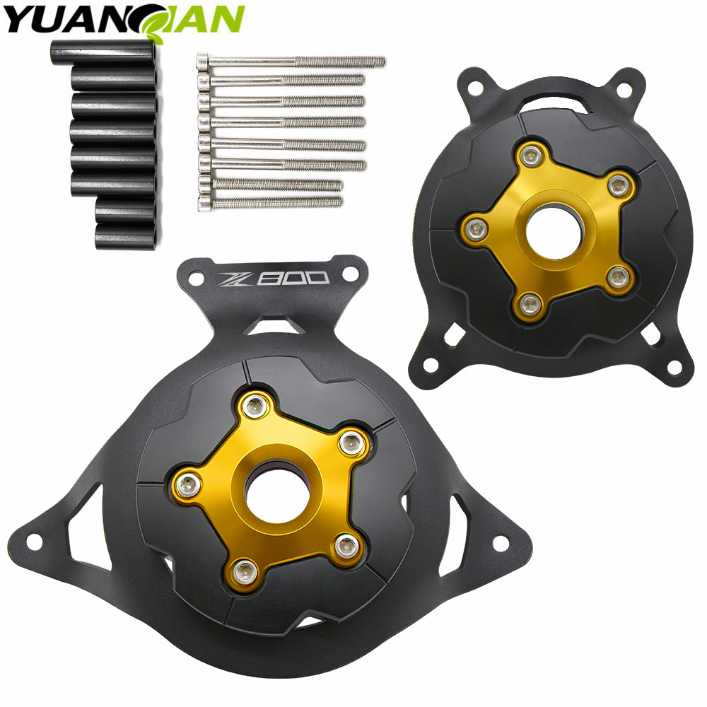 купить For KAWASAKI Z800 NEW Black CNC Motorcycle Engine Stator Cover/Engine Protective Cover For KAWASAKI Z800 2013-2016 Free shippin недорого