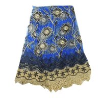 african tulle lace fabric Free Shipping! Wholesale Royal blue nigerian lace/New design african lace fabric!24l-6-1