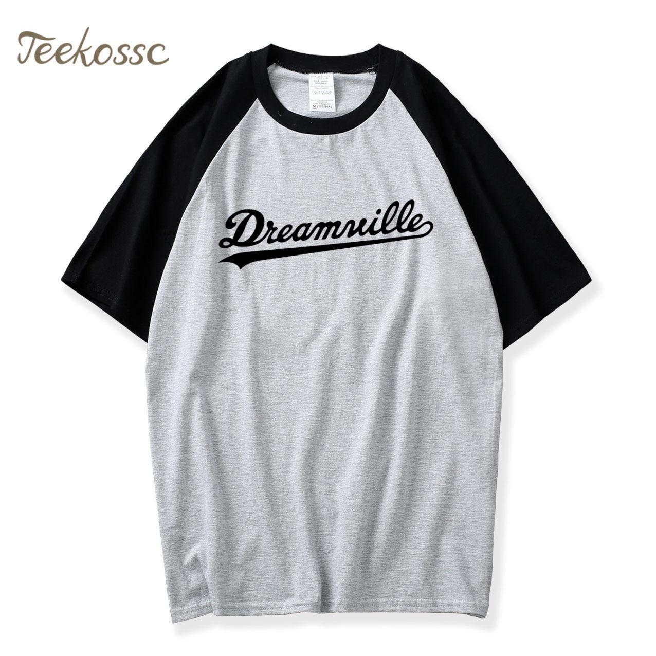Letters Print T shirt Simple Loose Fit Casual Short Sleeve Tops Tee 2018 Hot Summer Raglan TshirtS Men 100% Cotton Men's T-Shirt
