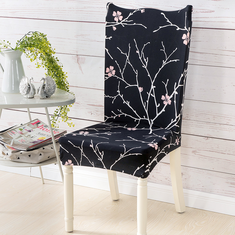 Spandex Printing Dining Room Chair Covers Removable Stretch Elastic Chair Slipcovers Home Hotel Restaurant Wedding Decor CHC012