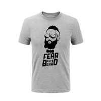 Man T Shirts Quality Designer Harden Fear The Beard Summer T Shirts Casual T Shirts Novelty