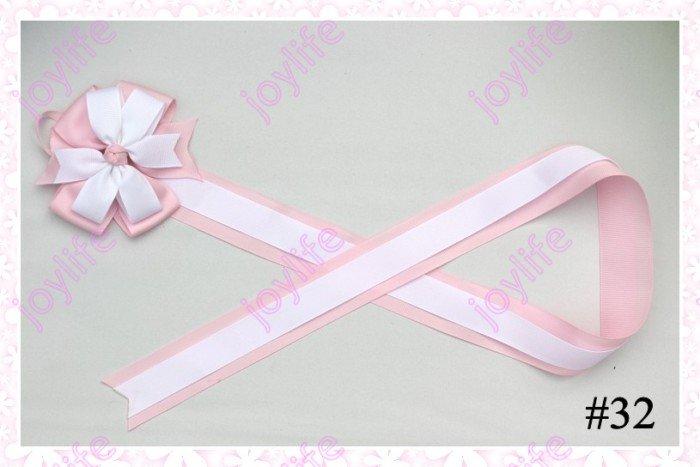 20 шт смешанных цветов 36 ''модные ленточки с бантиками фанки бантики для волос клипсы