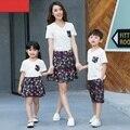 Семьи соответствующие наряды семья одежда / мать и дочь 2 шт. платья отца сыну одежда семья комплектов одежды CH58