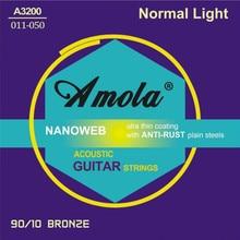 Envío gratis Elixir 011-052 Nanoweb 11027 cuerdas de guitarra acústica accesorios de instrumentos musicales guitarras al por mayor