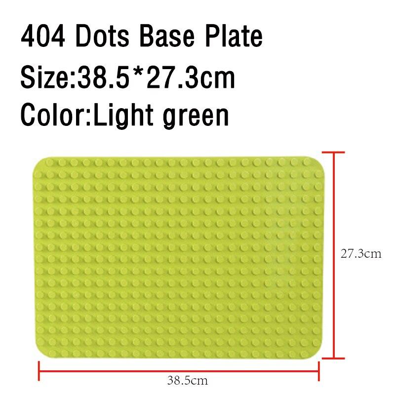 GOROCK Large Size Baseplate Big Base Plate 404 Dots Exlarge Brick Solid Plate Toys Compatible Legos Duploe Toys For Child Kid 5
