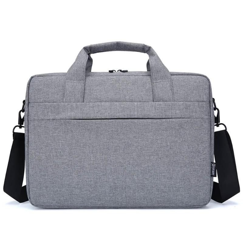 Portable Business Nylon Large Capacity Zipper Laptop Handbag Daily Waterproof Briefcase Daily Life Waterproof Grey  Universal