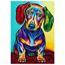 Diamond Painting Dog Mosaic Embroidery Full Square 5D Decoration Cross-Stitch LUOVIZEM L289