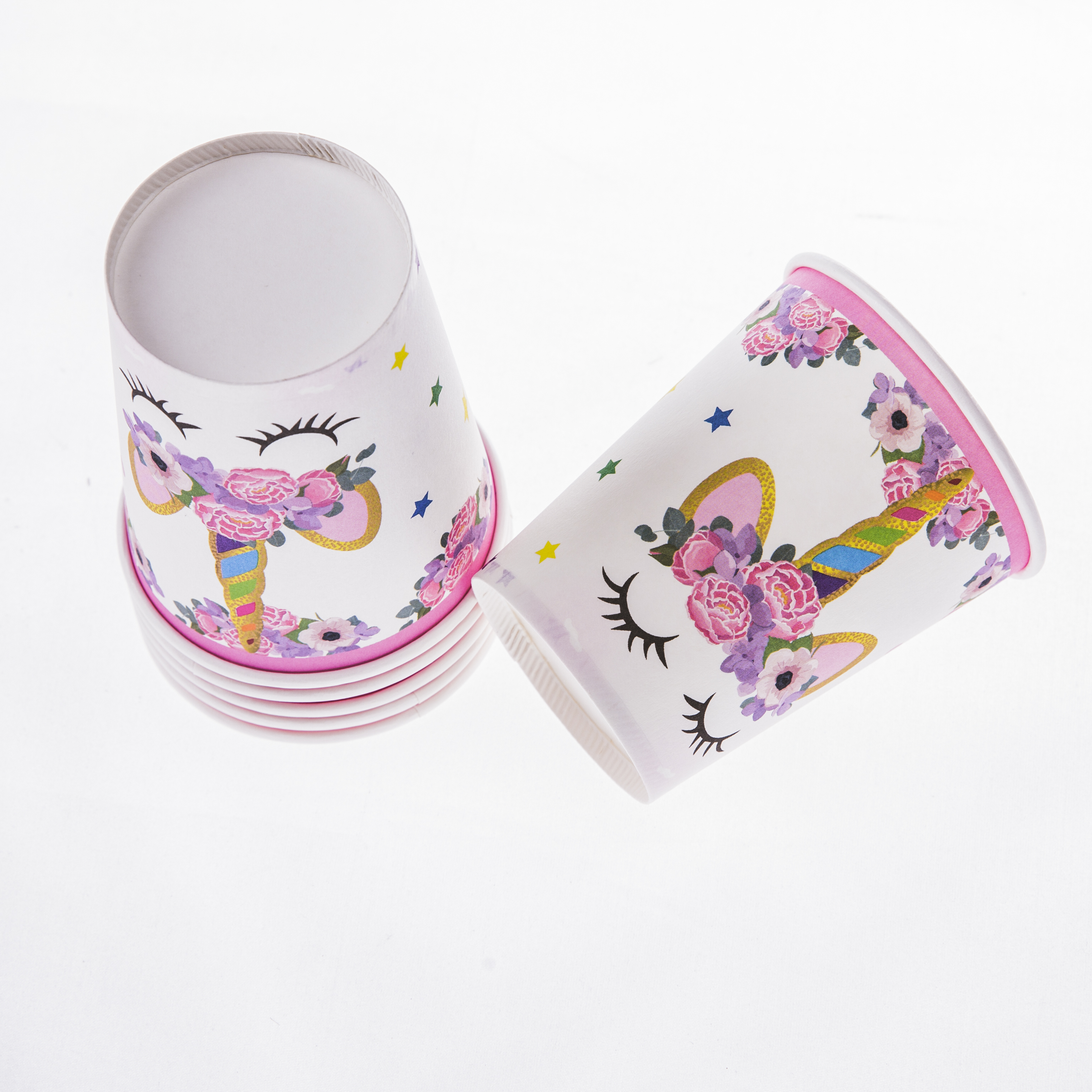 Unicorn theme theme event birthday theme party disposable tableware paper cup cartoon kid's party