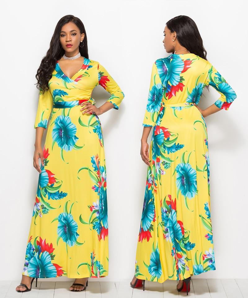 69cb7ca46 ... Loose Long Dress Bohemian Floor Length Casual Frocks Female Plus Size  2019 New Spring Boho Dresses. 003-5060. 004 960. 005. 006. 007. 008. 009.  010