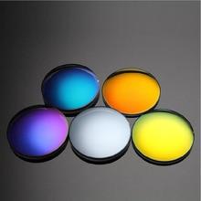 1.499 단일 비전 편광 된 거울 다채로운 근시 안경 렌즈 SPH 9.00 ~ 0 Cyl 광학 태양 안경 렌즈 고품질