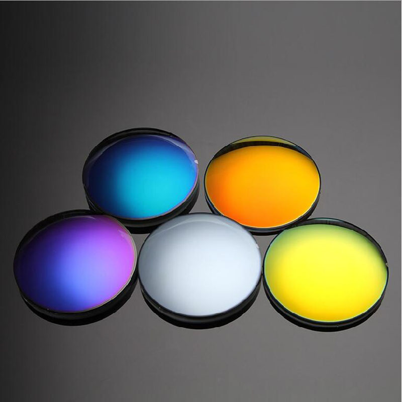 1.499 Single Vision Polarized Mirror Colorful Myopia Eyeglasses Lenses SPH -9.00~0 Cyl Optical Sun Glasses Lens High Quality
