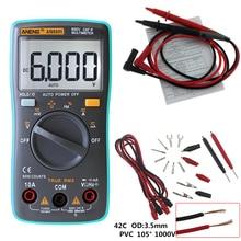 ANENG AN8001 Multímetro Digital 6000 Cuentas de luz de Fondo AC/DC Del Amperímetro Del Voltímetro Del Ohmio Meter Portable