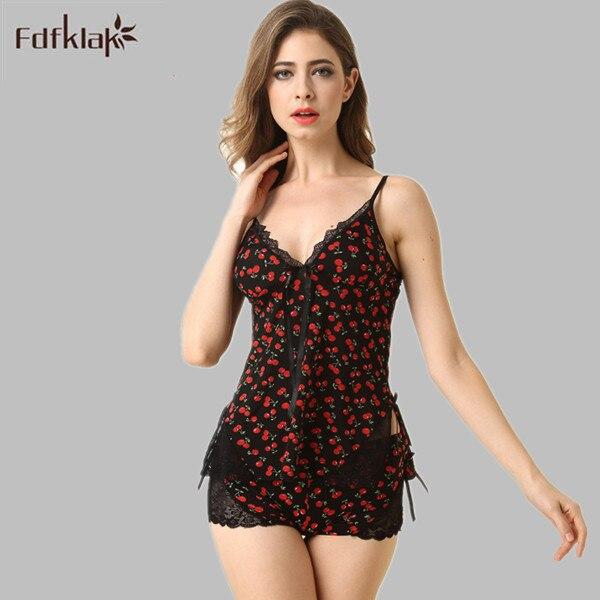 New Design Print Women Pajama Shorts Set Pajama Ladies Faux Silk Summer Sexy Sle