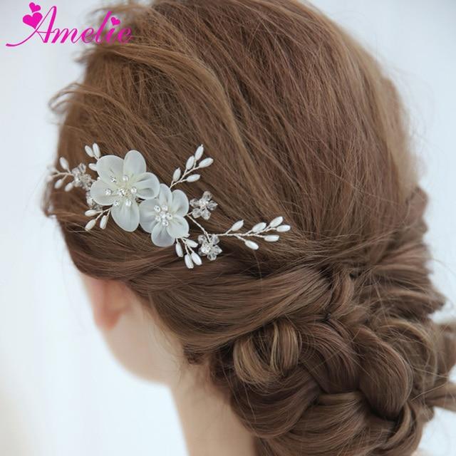 Elegant Wedding Bridesmaid Headpiece Silk Lace Flower Bridal Hair