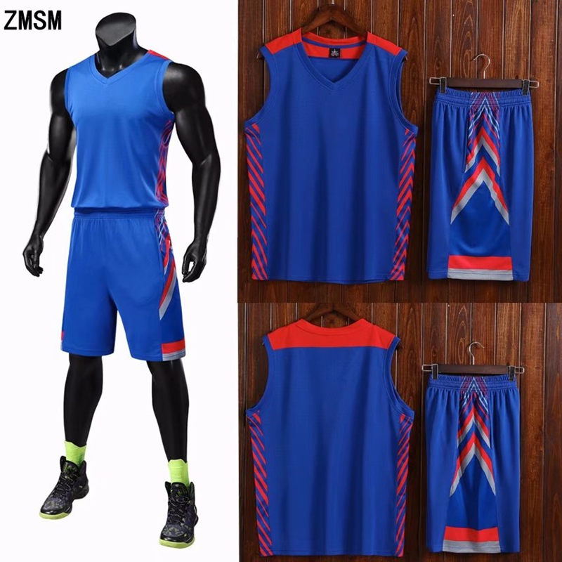 5e1f879ca69 Detail Feedback Questions about ZMSM Adult Basketball Jerseys Set Men  Basketball Vest   double pocket Shorts Custom Basketball Uniform Plus Size  Sportswear ...