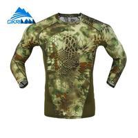 رجل كامو الصيد القتال التكتيكي قميص الرجال طويلة الأكمام سريع الجافة الجري الجوارب المشي ر قميص ciclismo الصيد قميص