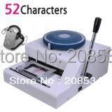 送料無料+高品質! 52 charatersミリタリーgi金属ドッグタグマニュアル点字エンボスマシ