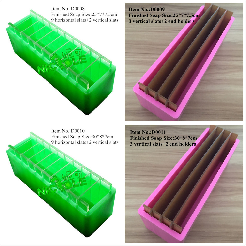 Silicone Loaf Soap Mold With Vertical And Crosswise Dividers For Handmade Render Soaps Mould