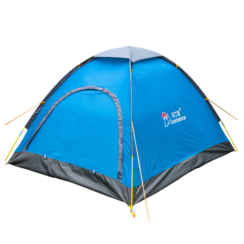 Mountaintop 2-person Camping Tents One-bedroom Waterproof Polyester Three-season Outdoor Tents for Hiking Travel in one person