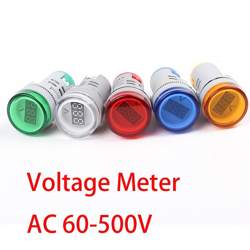 Measurement & Analysis Instruments Voltage Meters Faithful 22mm Ac 60-500v Led Digital Display Voltage Meter Indicator Signal Lamp Gauge Volt Voltmeter Lights Tester Combo Good Heat Preservation