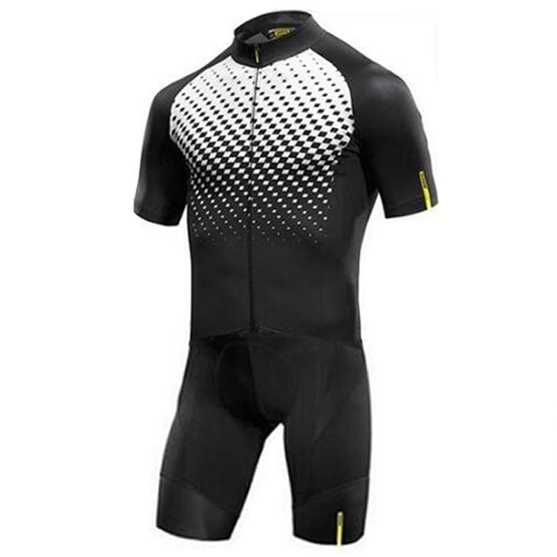 MAVIC Men Cycling Set Ropa Ciclismo Maillot Cycling Jersey Men Triathlon Skinsuit Bike Clothing Shorts Sleeve Suit