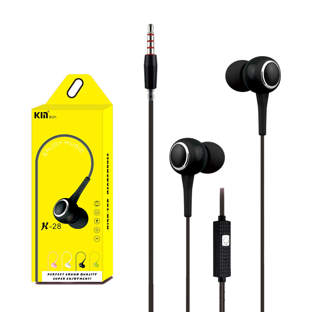 Earphone With Mic For Cell Phone Universal 3.5mm In-Ear Stereo Earbuds Earphone With Mic For Cell Phone Jn.13