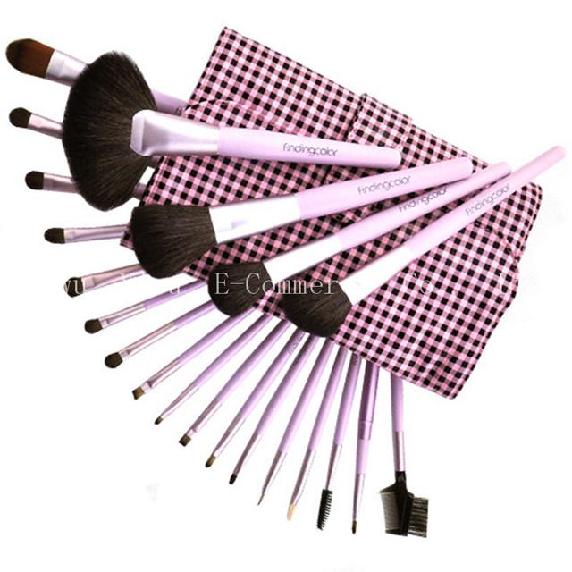 Haig-de-rosa 21 pçs/set Pincéis de Maquiagem Em Pó Corretivo Em Pó Foundation Brushes 3 conjunto Sintético Cosméticos Blush Brush Tool Beleza