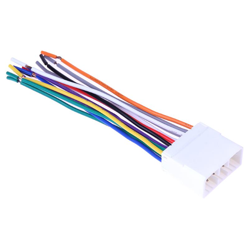US $1.58 20% OFF|VODOOL Stereo CD Player Radio Wiring Harness 14Pin on