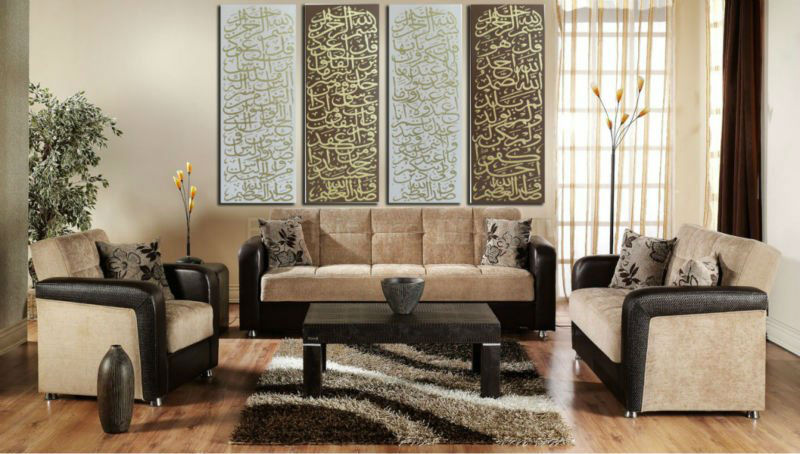 Free Shipping Mail Modern Islamic Panel Oil Painting On Canvas 4