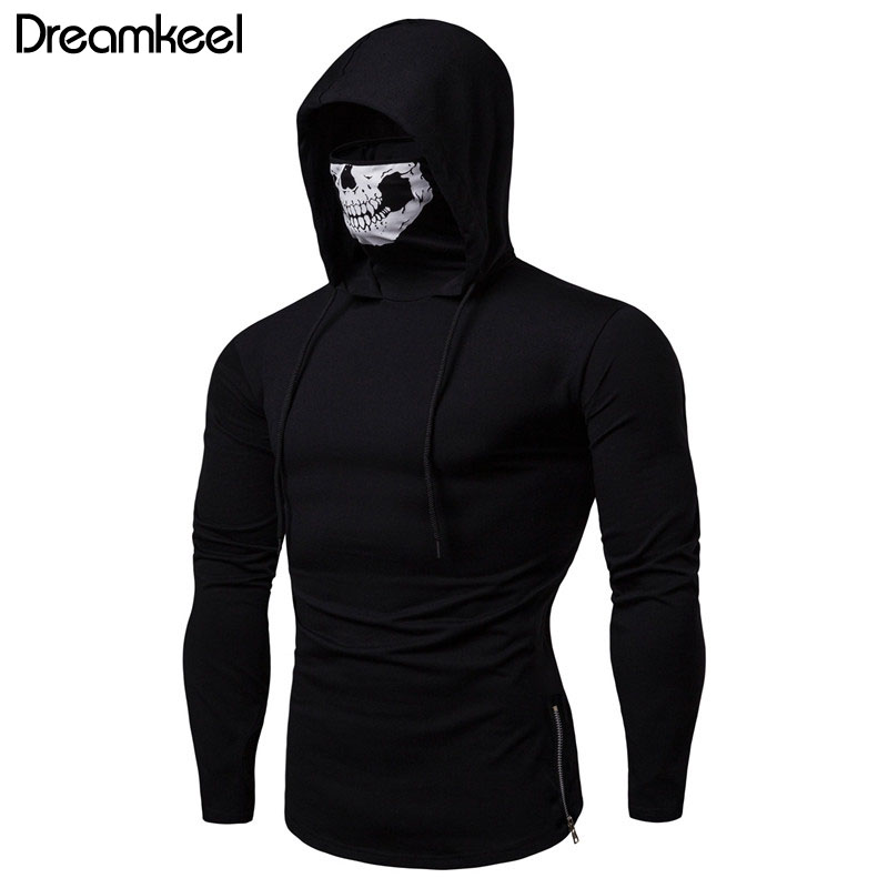 Hoodie Drawstring Zipper Male Long-Sleeves Sweatershirt Autumn Solid Casual For Boyfriend