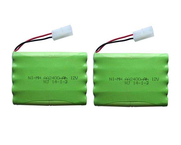 2pack 12v 2400mah ni mh bateria 12v rc battery nimh battery font b pilas b font