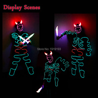 EL Rope Tube Diy Fluorescent Costume Wedding Glow Party Lights Led String Bull Demon King Cartoon Figure for Cosplay Drama Decor