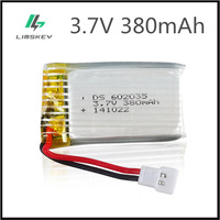 3.7V 380mAh Lipo battery For Hubson X4 H107 MJXRC F47 DiFeida DFD F180 F47 F48 602035 3.7 V 380 mah 20C XH Pluh