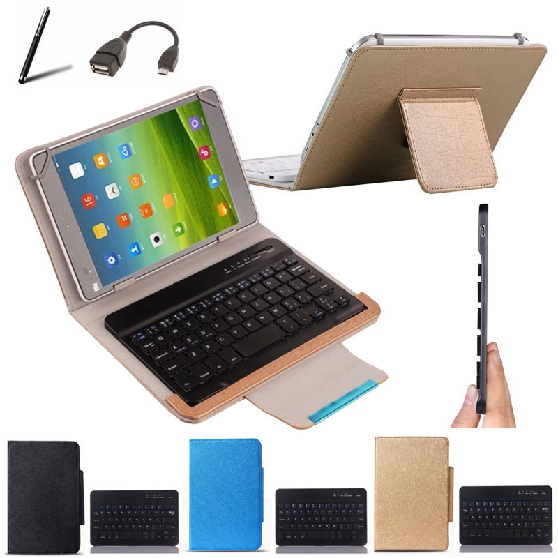 Wireless Bluetooth Keyboard Case For apache AT129 10.1 inch Tablet Keyboard Language Layout Customize Stylus+OTG Cable