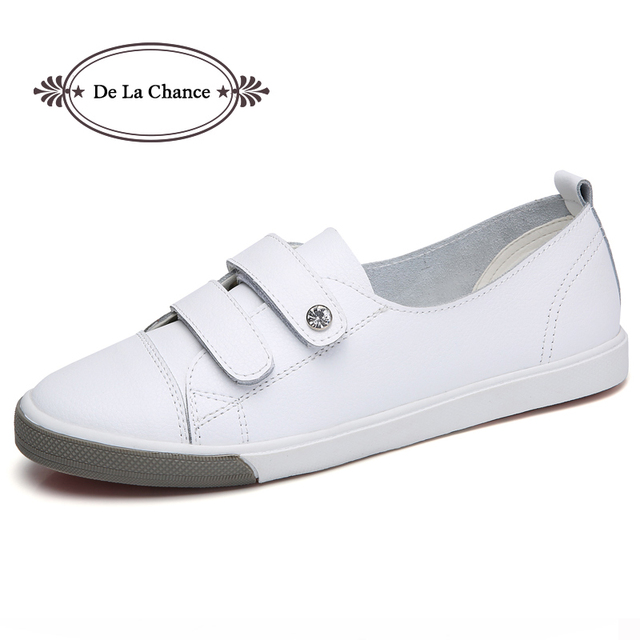 Ladies Rhinestones Platform Patent Leather Leisure Sneakers Occupational Shoes