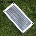 Прозрачная полугибкая поликристаллическая ячейка BUHESHUI 18 в 10 Вт  модуль солнечной панели «сделай сам»  открытый соединитель  зарядное устро...