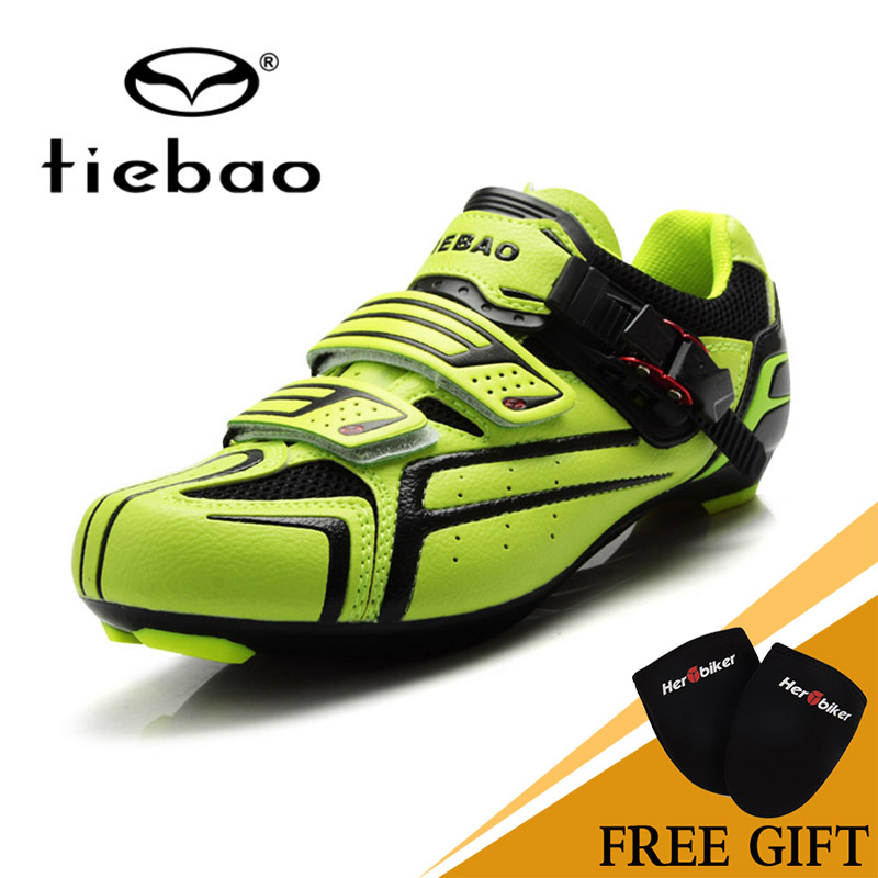 2017 TIEBAO With Fast Cycling Shoes Maglc Tape Fastener Road Bike Shoes PVC Shoe High Quality Professional Road Shoes tiebao professional road shoes rotating screw steel wire with fast cycling shoes road bike shoes tb16 b1259