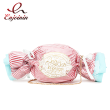 Cute Candy Design Handbags For Women Purses PVC Day Clutches Chain Crossbody Mini Messenger Bag Sugar Pouch Ladies Shoulder Bag simple candy colour and metal design crossbody bag for women