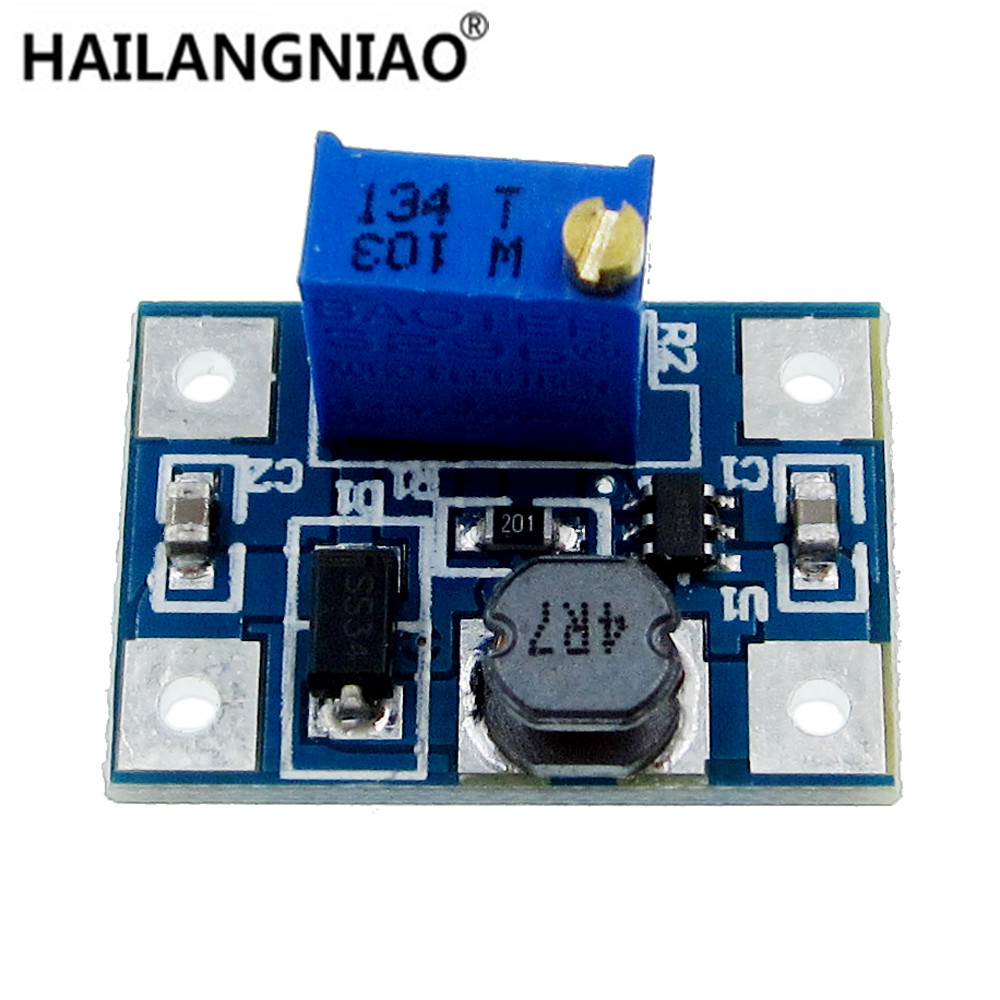 5pcs 2-24V to 2-28V 2A DC-DC SX1308 Step-UP Adjustable Power Module Step Up Boost Converter