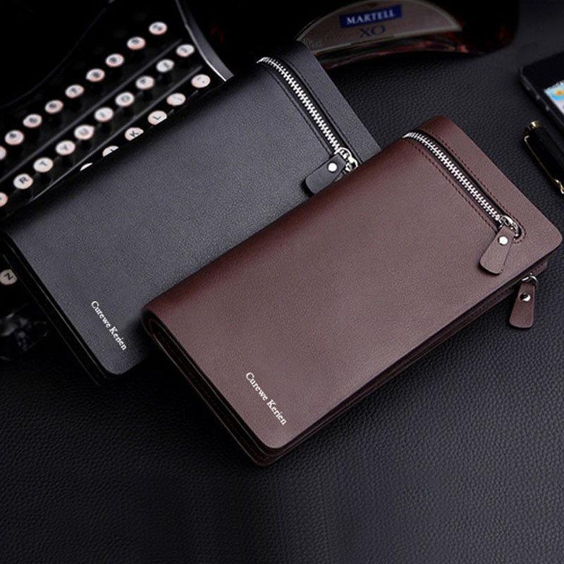 Luxury fashion gold brand pu leather men wallets business card aeproducttsubject reheart Images