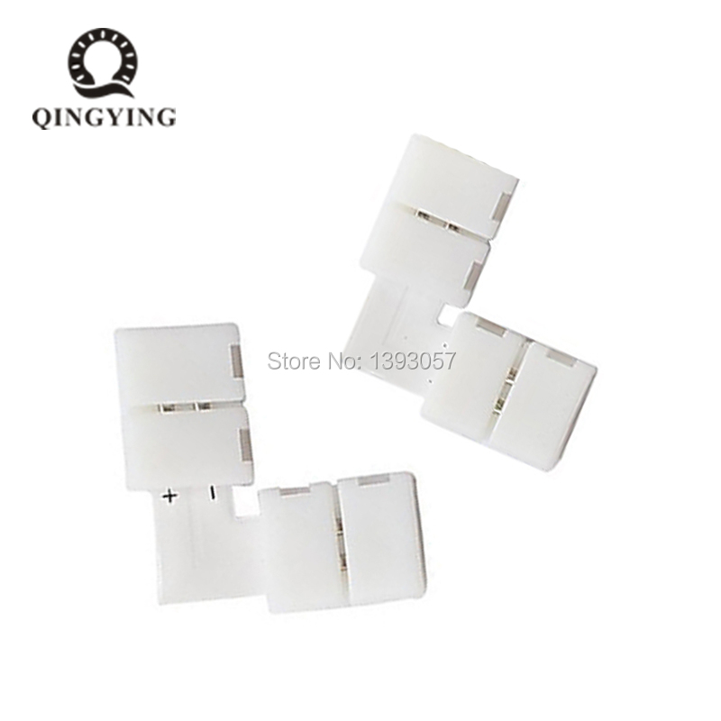 10pcs 10mm <font><b>2</b></font> <font><b>Pin</b></font> L Cross L Shape Angle <font><b>LED</b></font> <font><b>Strip</b></font> Connector PCB Free Welding For SMD 5050 5630 Single Color <font><b>LED</b></font> <font><b>Strip</b></font> Lights image